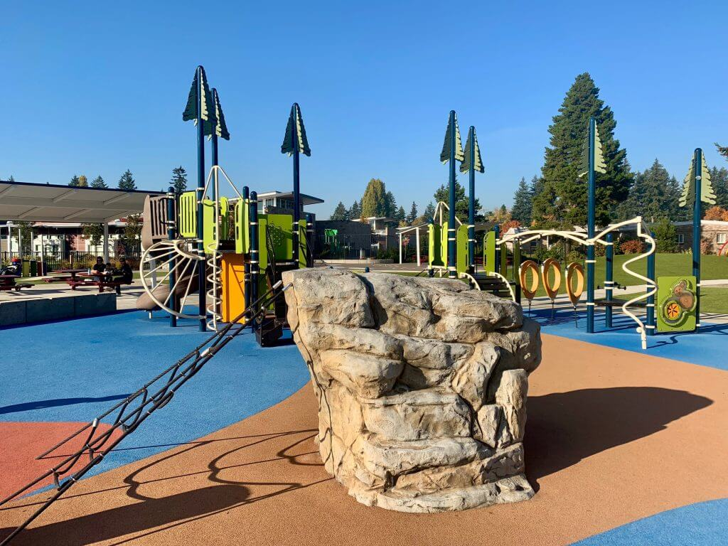 Photo of an inclusive playground that's ideal for kids with sensory issues #landscapestructures #meadowcrest #playground #inclusiveplayground
