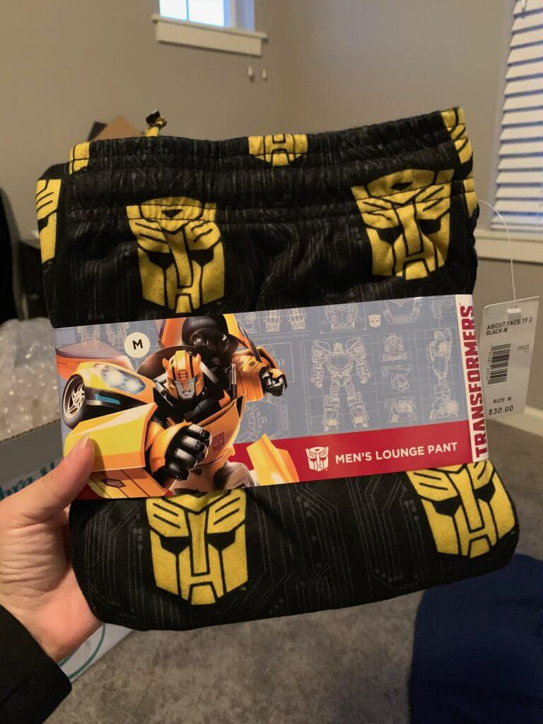 Photo of Transformers jammie pants from Fred Meyer stores #transformers #bumblebeemovie #fredmeyerstores