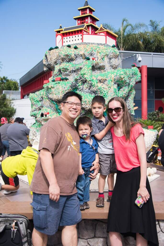 Photo of a family at LEGO Ninjago at LEGOLAND California. Find out top tips for LEGOLAND in this blog post #legolandca #ninjago