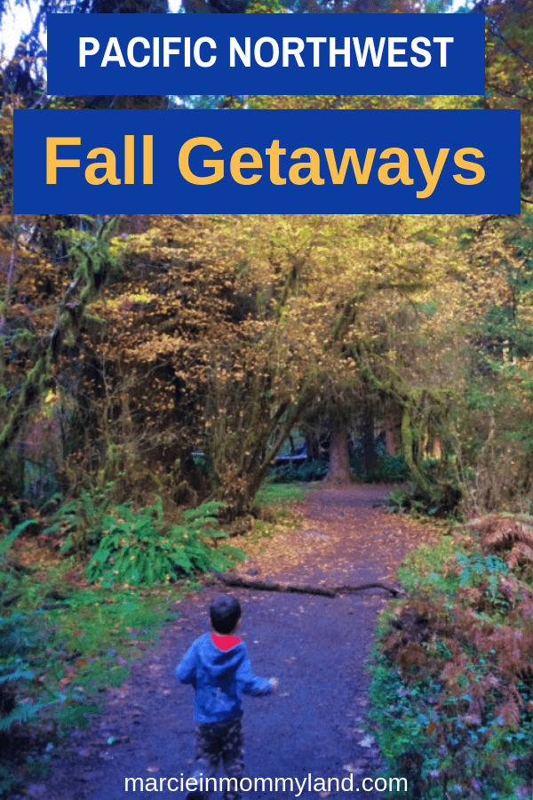 Find out where Seattle parents go for the best Pacific Northwest weekend getaways for Fall. Click to read more or pin to save for later. www.marcieinmommyland.com #pacificnorthwest #seattle #familytravel #travelwithkids #pnw