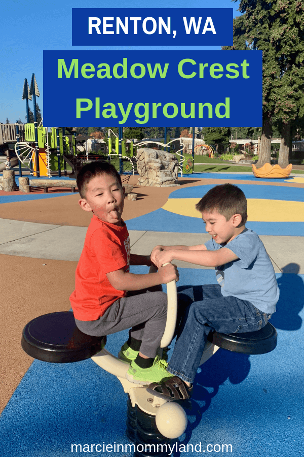Meadow Crest Playground is an inclusive playground near Seattle, WA. Click to read more or pin to save for later. www.marcieinmommyland.com #ad #ShapedByPlay #PlayLSI
