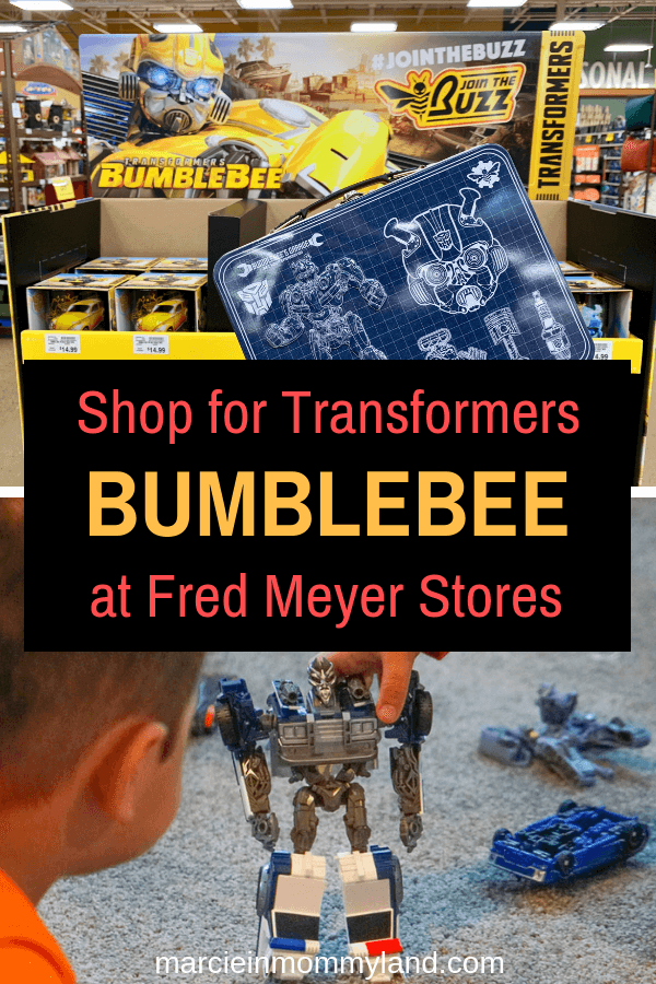 Excited for the new Transformers Bumblebee movie? Head to Fred Meyer to stock up on the latest Bumblebee toys and housewares. Click to read more or pin to save for later. www.marcieinmommyland.com #transformers #bumblebee #fredmeyerstores #jointhebuzz #sponsored
