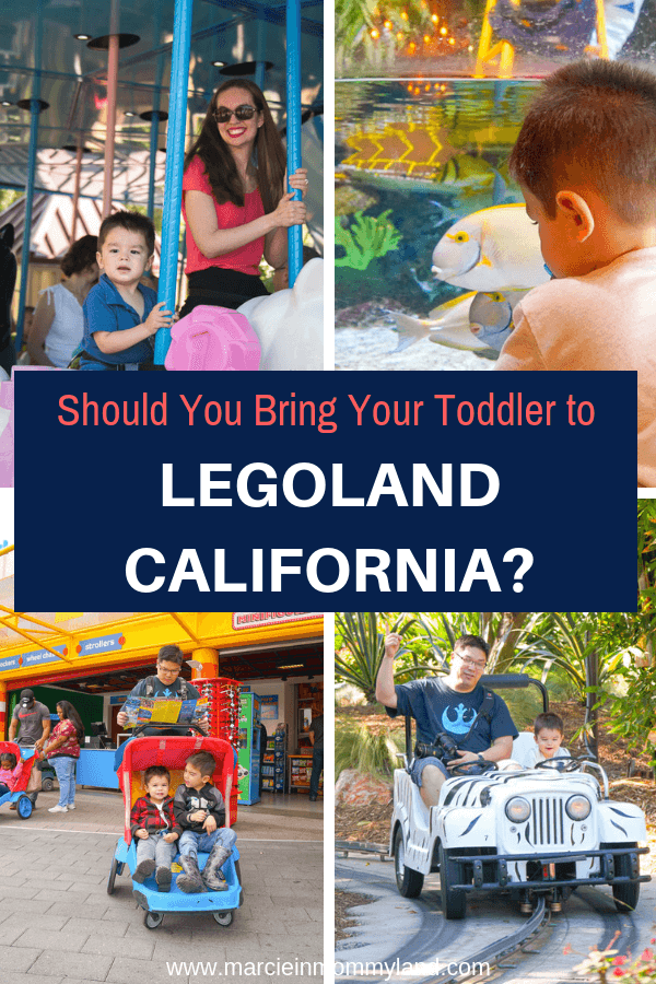 Wondering if it's worth bringing a toddler to LEGOLAND California? Find out in my latest blog post or pin to save for later. www.marcieinmommyland.com #LEGOLANDCA #LEGOLAND #themepark #toddlertravel #familytravel