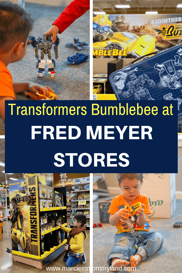 Head to Fred Meyer Stores for all your Transformers Bumblebee needs!Click to read more or pin to save for later. www.marcieinmommyland.com #transformers #bumblebee #fredmeyerstores #jointhebuzz #sponsored
