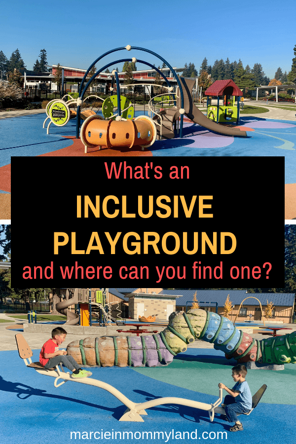 Wondering what an Inclusive Playground is and where you can find one near your home? Click to read more or pin to save for later. www.marcieinmommyland.com #ad #ShapedByPlay #PlayLSI