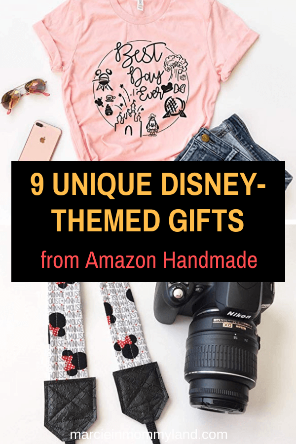 #ad Are you looking for the perfect Disney-themed gift that's unique and qualifies for Amazon Prime? Click to read more or pin to save for later. www.marcieinmommyland.com #AmazonHandmade #IC | 9 Unique Disney Gifts from Amazon Handmade featured by top Disney blogger, Marcie in Mommyland