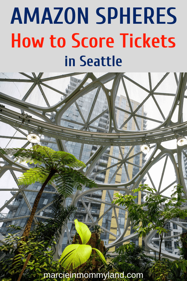 Trying to get free tickets to explore the Seattle Amazon Spheres in Downtown Seattle? Find out when to check and what to bring with you in my latest blog post. Click to read more or pin to save for later. www.marcieinmommyland.com #visitseattle #amazonspheres #pacificnorthwest