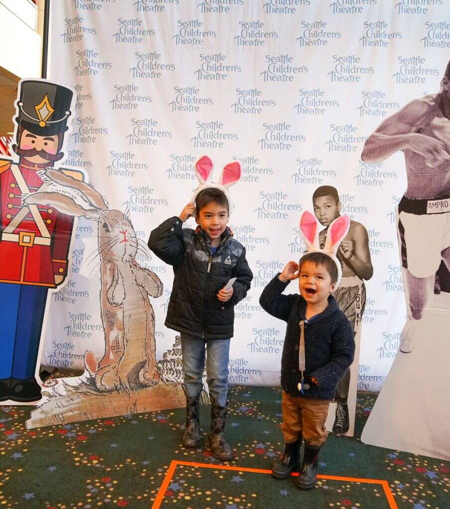 Photo Booth at Seattle Children's Theatre's production of The Velveteen Rabbit #SCTseattle