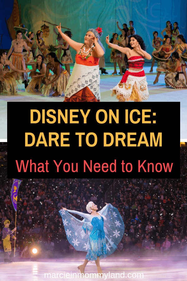 Thinking about Disney on Ice: Dare to Dream? Find out everything you need to know about Disney on Ice with kids. Click to read more or pin to save for later. www.marcieinmommyland.com #ad #disneyonice #daretodream