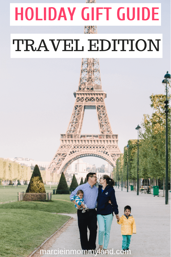 Shopping for someone who loves to travel? Get my top picks for travel gift ideas for men, women, and children! Click to read more or pin to save for later. www.marcieinmommyland.com #holidaygiftguide #travelgifts #gift