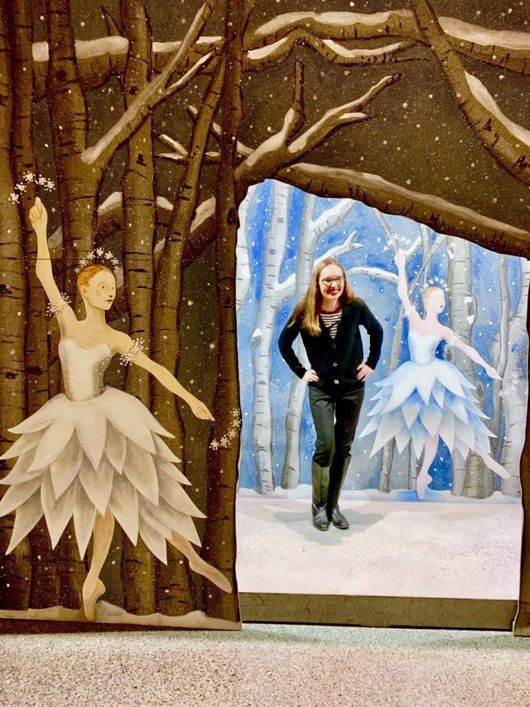 Photo of a ballet photo op at Pacific Northwest Ballet in Seattle, WA #pacificnorthwestballet #thenutcracker #seattle