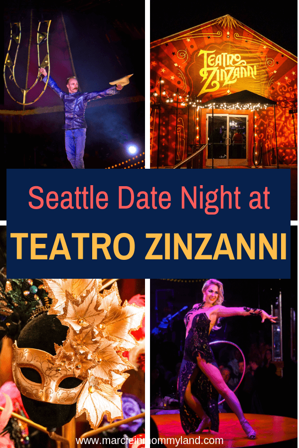 If you are looking for a unique Seattle date night experience, head to Teatro Zinzanni at their new location in Woodinville, WA. Click to learn more or pin to save for later. www.marcieinmommyland.com #teatrozinzanni #seattle #datenight | Teatro ZinZanni Dinner Theater Near Seattle featured by top Seattle blogger, Marcie in Mommyland