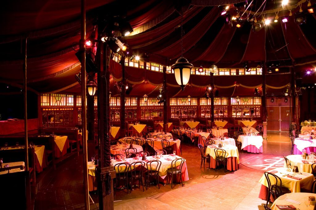Photo of the Teatro ZinZanni Spiegeltent in Seattle, WA #spiegeltent #teatrozinzanni #seattlewa