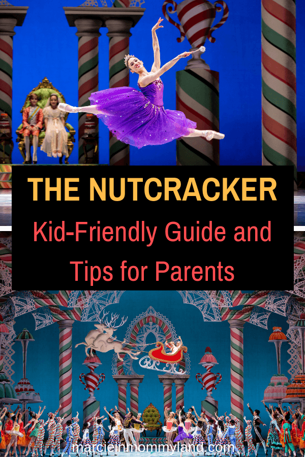 Are you wondering if your kids are old enough for The Nutcracker ballet? Get my kid-friendly Nutcracker guide and tips for parents. Click to read more or pin to save for later. www.marcieinmommyland.com #pacificnorthwestballet #thenutcracker #balanchine #ianfalconer