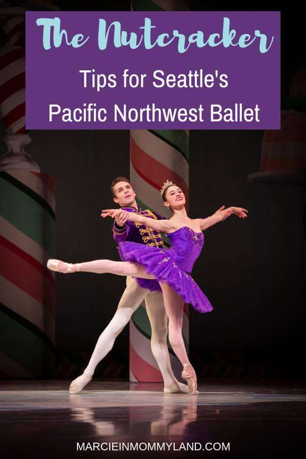 Heading to Pacific Northwest Ballet in Seattle to see George Balanchine's The Nutcracker? Get my top tips for bringing the kids! Click to read more or pin to save for later. www.marcieinmommyland.com #pnb #balanchine #nutcracker #pacificnorthwestballet