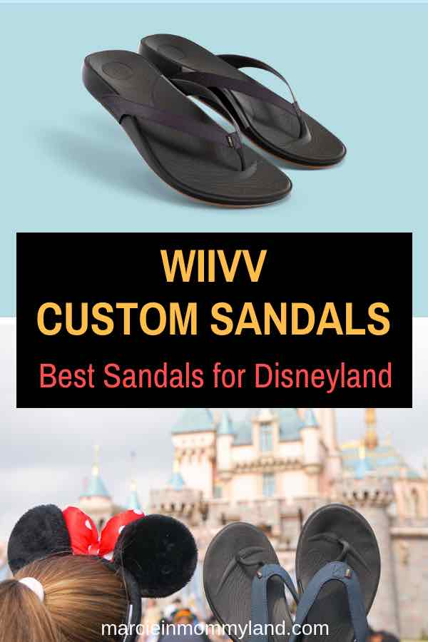 Heading to Disneyland and worried about finding the right sandals? Wiivv makes custom sandals and insoles that will give your feet the support they need to keep up your energy for making the most of your Disney vacation! Click to read more or pin to save for later. www.marcieinmommyland.com #wiivv #customsandals #Disneyland #DisneySMMC #DisneyMoms