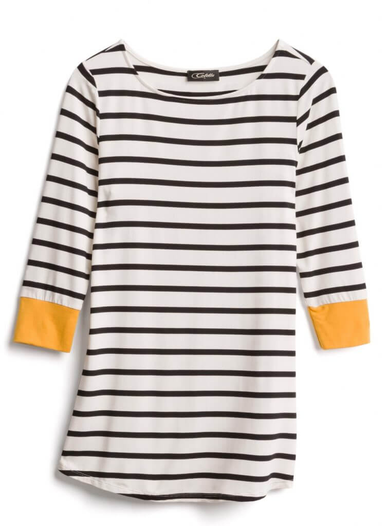 Photo of a striped Colette shirt that was in my Stitch Fix box, curated by a Stitch Fix stylist #stitchfix | | Stitch Fix review featured by top Seattle life and style blogger, Marcie in Mommyland: image of striped top received from Stitch Fix