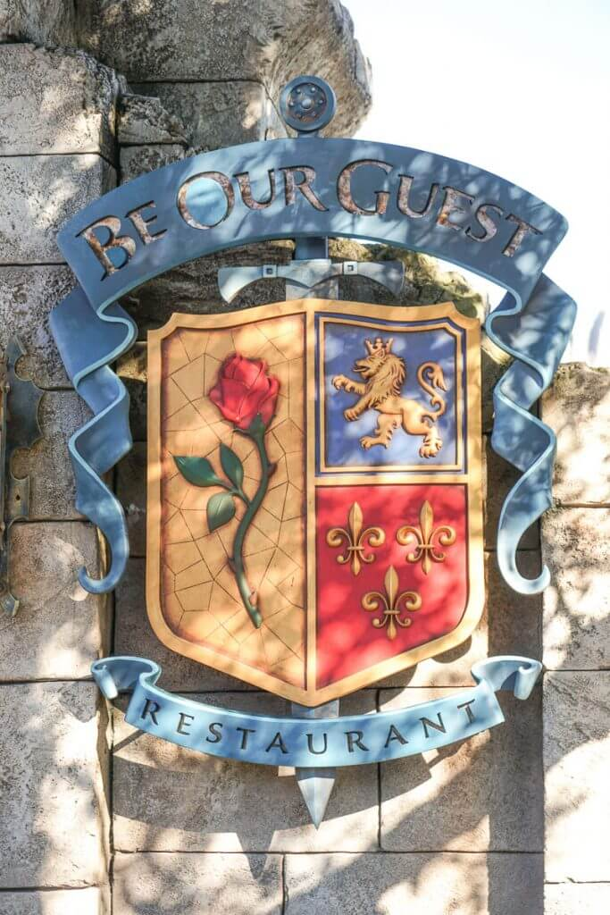 Photo of the Be Our Guest sign at Walt Disney World in Florida #beourguest #waltdisneyworld #disneyworld