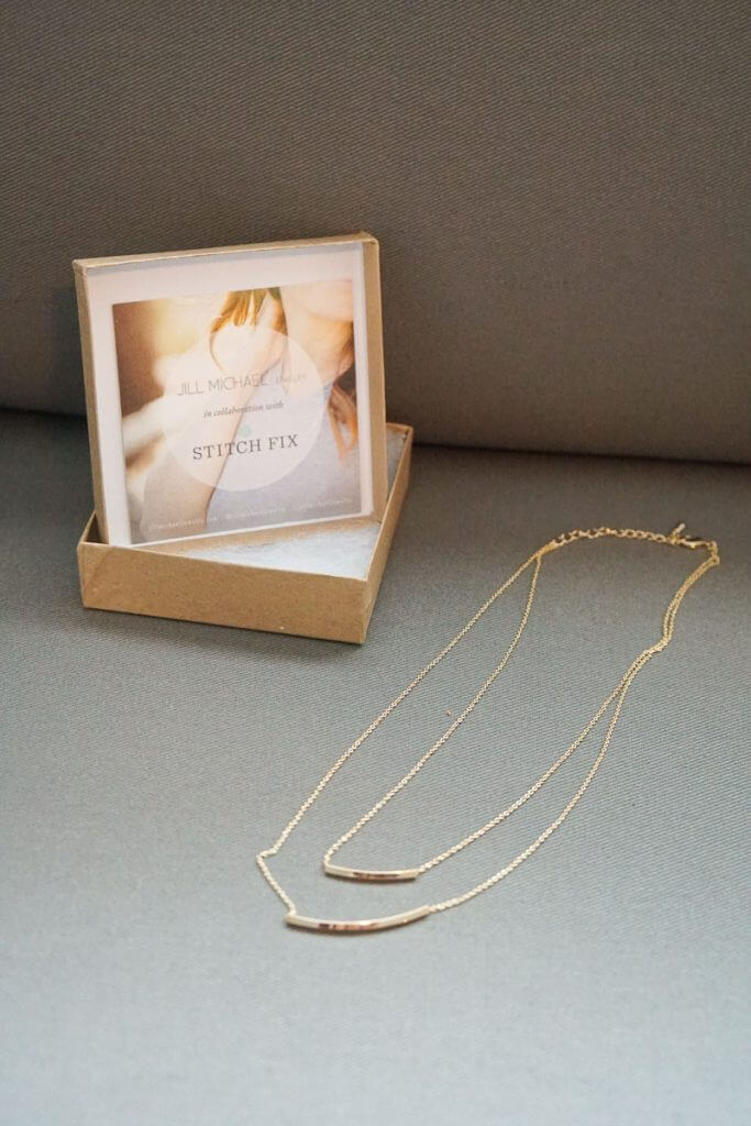 Photo of a Jill Michael necklace, one of the items in my Stitch Fix subscription box #stitchfix | Stitch Fix review featured by top Seattle life and style blogger, Marcie in Mommyland: image of jewelry received in the Stitch Fix box