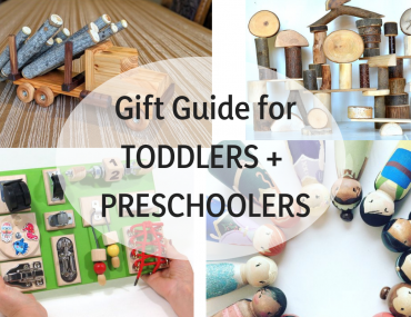 Find the best wooden toys for toddlers and preschoolers in this gift guide for kids featuring handmade wooden toys and quiet activities for kids. #woodentoys #toddlertoys #preschool | Best wooden toys for toddlers and preschoolers featured by top Seattle mommy blogger, Marcie in Mommyland