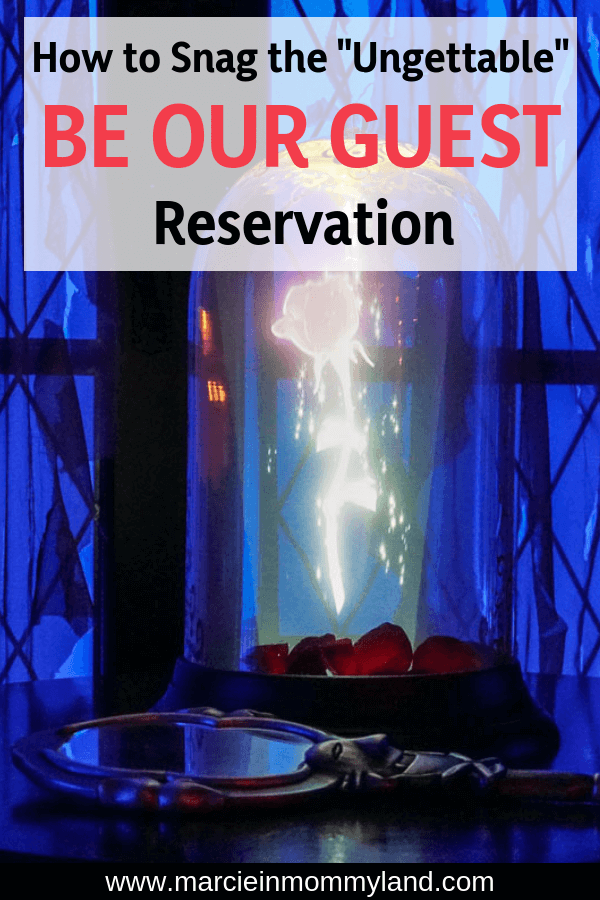 Heading to Walt Disney World and want to to score one of the most difficult Disney dining reservations? See how to get a reservation for the Be Our Guest breakfast at Magic Kingdom. Click to read more or pin to save for later. www.marcieinmommyland.com #waltdisneyworld #disneyworld #beourguest #beautyandthebeast