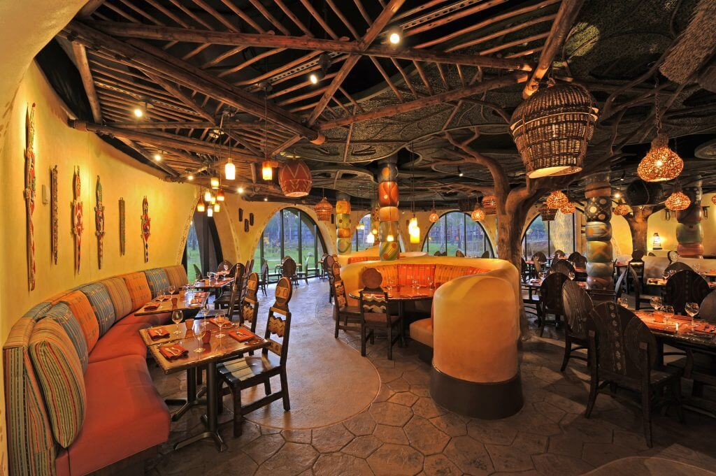 The Ultimate Review of Kidani Village at Walt Disney World featured by top US Disney blogger, Marcie and the Mouse: Photo of Sanaa restaurant, located at Kidani Village in Animal Kingdom Lodge at Walt Disney World #sanaa #waltdisneyworld #disneyworld #animalkingdomlodge #kidanivillage