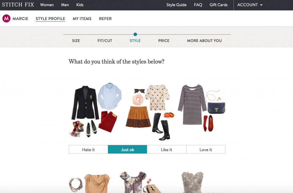 How does Stitch Fix work? | Stitch Fix review featured by top Seattle life and style blogger, Marcie in Mommyland: image of Stitch Fix website