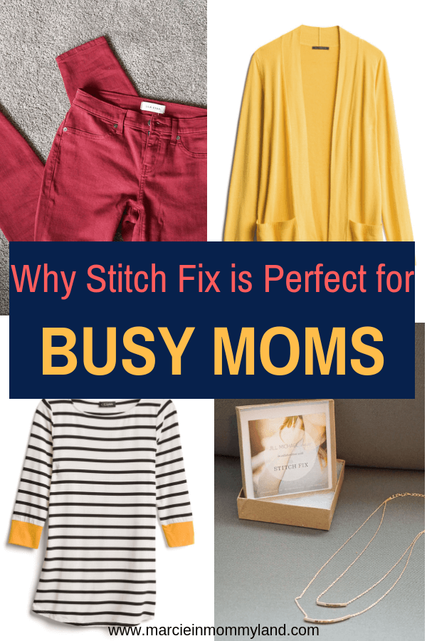 Are you a busy Mom? Find out why you need Stitch Fix in your life to cut the stress of shopping with kids. Click to read more or pin to save for later. www.marcieinmommyland.com #stitchfix #busymom #momlife #momhack