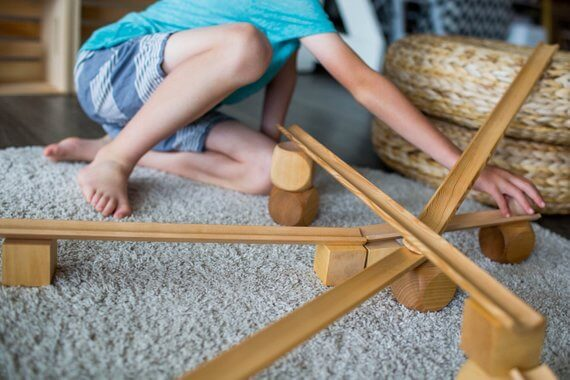 Best wooden toys for toddlers and preschoolers featured by top Seattle mommy blogger, Marcie in Mommyland: image of Wooden Ramps for Preschoolers