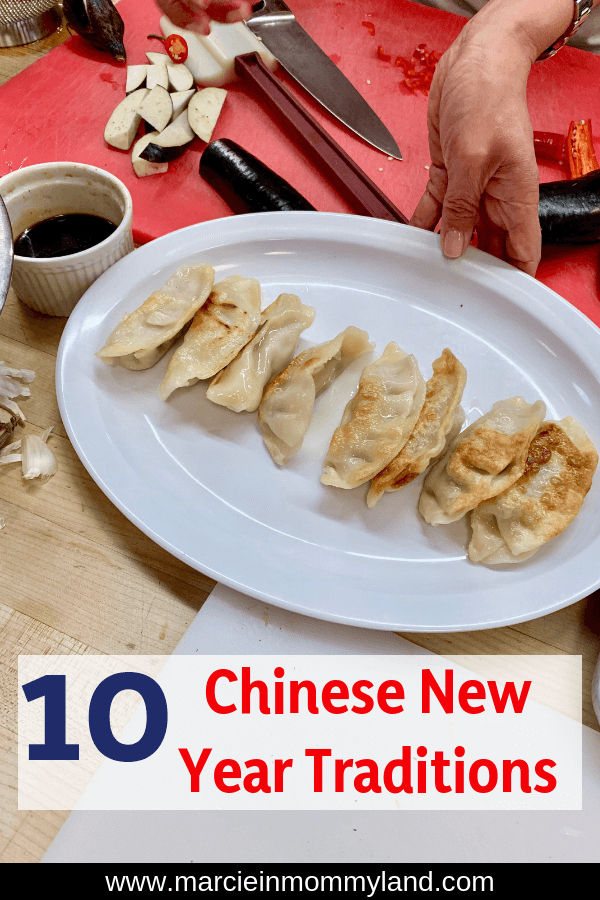 #ad Are you looking for Chinese New Year traditions you can do with your family to celebrate the Lunar New Year? Find out about easy to make Chinese New Year recipes, red envelopes, kid-friendly activiites, lion dancing, and more! Plus, learn why eating Chinese dumplings will bring you good luck! Click to read more or pin to save for later. www.marcieinmommyland.com #LingLingAsian #SE #chinesenewyear #potstickers