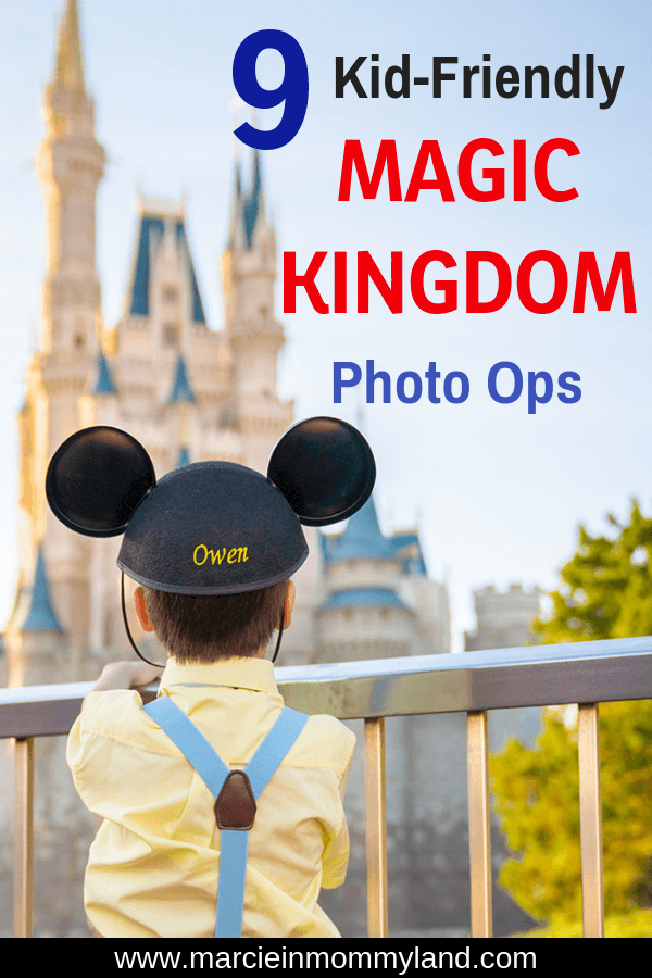 Are you hoping to get cute photos of your kids at Magic Kingdom on your next Walt Disney World family vacation? Find out the best Disney World photo ops, what to wear, and where to go for the ultimate Disney photo shoot with kids. Click to read more or pin to save for later. www.marcieinmommyland.com #disneyworld #waltdisneyworld #wdw #disneysmmc #magickingdom #disneyphoto #disneyphotographer
