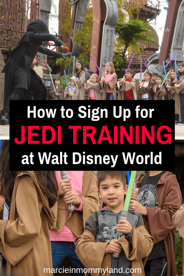 Trying to figure out the best way to snag a coveted spot at Jedi Training at Walt Disney World? Get my insider tips on what you can do to increase your odds plus get all your questions about Jedi Training: Trials of the Temple answered! Click to read more or pin to save for later. www.marcieinmommyland.com #starwars #jeditraining #waltdisneyworld #disneyworld #wdw