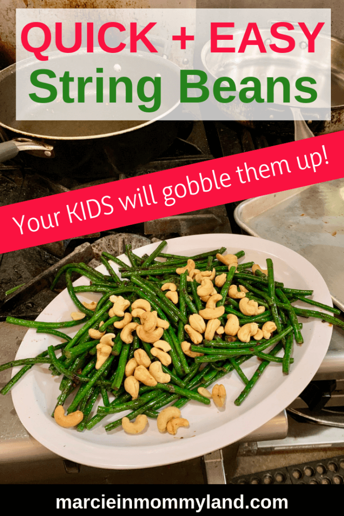 Are you looking for a quick and easy Chinese string bean recipe perfect for Chinese New Year? Get popular TV Chef Katie Chin's Chinese Long Bean and Cashew recipe, which is sure to be a hit with your family! It's so simple that your kids can help make it! Click to read more or pin to save for later. www.marcieinmommyland.com #LingLingAsian #SE #greenbeans #chinesefood #chineserecipe #stringbeans
