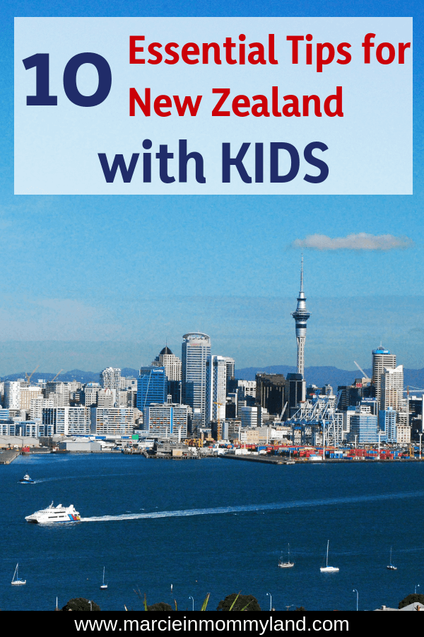 Planning a trip to New Zealand with kids? Read one mom's 10 top tips for exploring New Zealand with kids, including what to bring with you, what to try, how to arrange your schedule, what to reserve in advance, and more! Click to read more or pin to save for later. www.marcieinmommyland.com #newzealand #auckland #familytravel