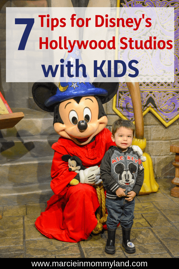 Heading to Walt Disney World? Find out my top 7 tips for Disney's Hollywood Studios with kids, plus what I was actually able to do in one day with young children. Click to read more or pin to save for later. www.marcieinmommyland.com #waltdisneyworld #disneyworld #wdw #hollywoodstudios