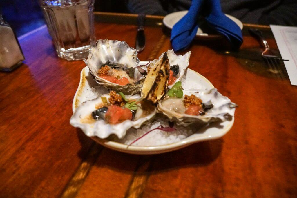 Treasure Cove oysters are a great start to a romantic date night in Seattle!