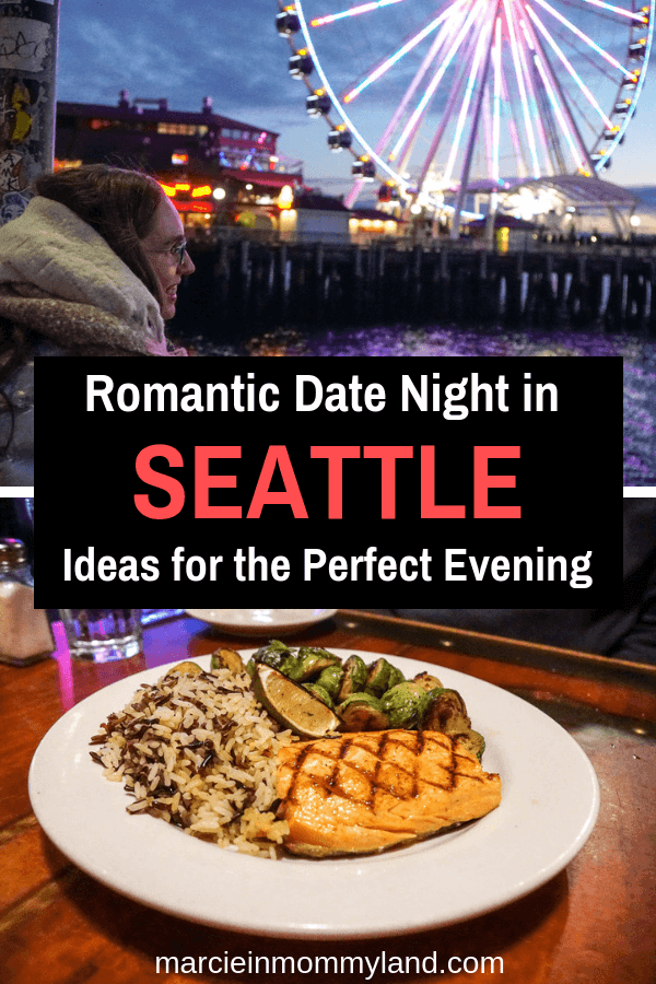 Are you looking for new Seattle date night ideas? Find out why you should head straight for Miners Landing at Pier 57 on the iconic Seattle Waterfront. I'll show you how to plan an epic date night in Seattle full of fun experiences and incredble food! Click to read more or pin to save for later. www.marcieinmommyland.com #seattle #seattlewa #washington #romantic #datenight