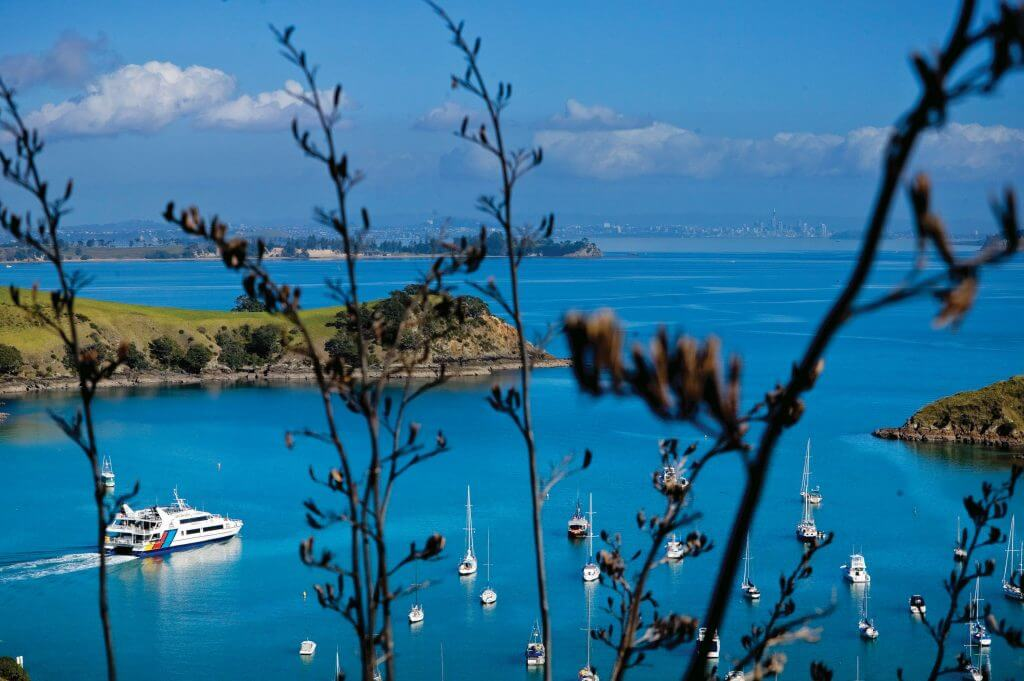 Waiheke's beautiful beaches, vineyards, festivals and a vibrant artistic community are just a 35-minute ferry cruise away from downtown Auckland. The Fullers Ferry runs regular half-hour sailings from Viaduct Harbour to Matiatia Wharf, Waiheke.