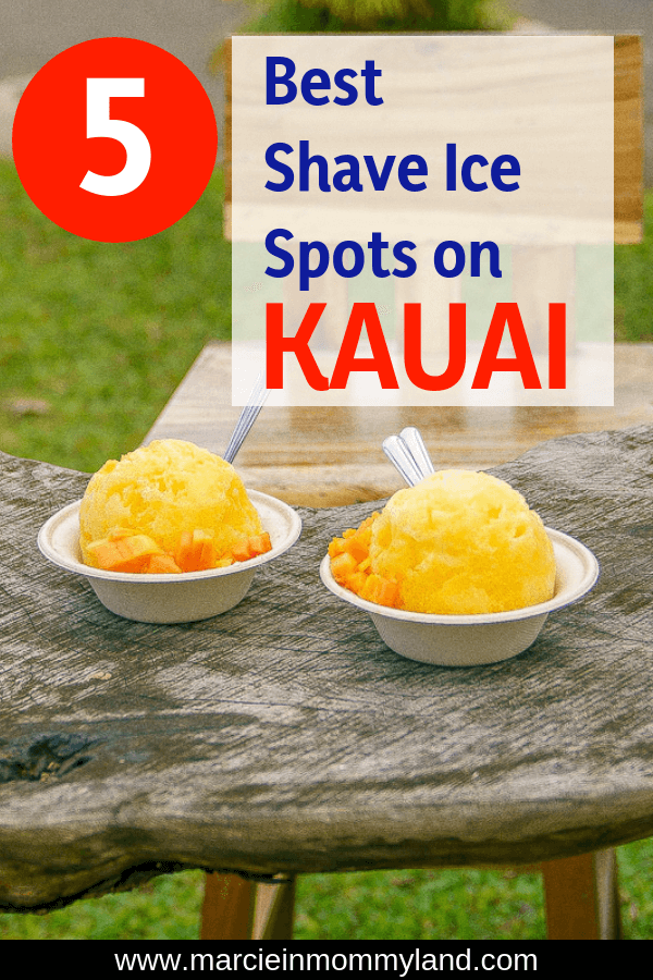 Looking for the best shave ice on Kauai? Find out exactly where to go for all natural, organic ingredients for next-level Hawaiian shave ice that will ignite your taste buds! Get the details on what to order (including shave ice toppings) and how to create your perfect combination.Plus, find out why shave ice is so much better than a snow cone! Click to read more or pin to save for later. www.marcieinmommyland.com #shaveice #kauai #Hawaii #poipu #hanalei #kapaa