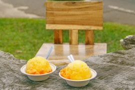 Wishing Well Shave Ice in Hanalei, Hawaii is the best shave ice on Kauai, featured by top US travel blogger, Marcie in Mommyland