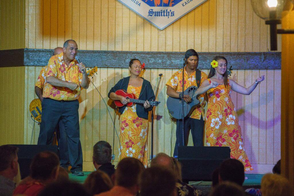 Enjoy dinner entertainment of hula dancing, Hawaiian music, and even learn how to hula dance to the Hukilau!