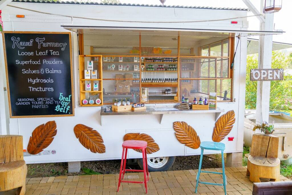 Kauai Farmacy offers teas and medicinal herbs on the Tasting Kauai food tour up on the North Shore.