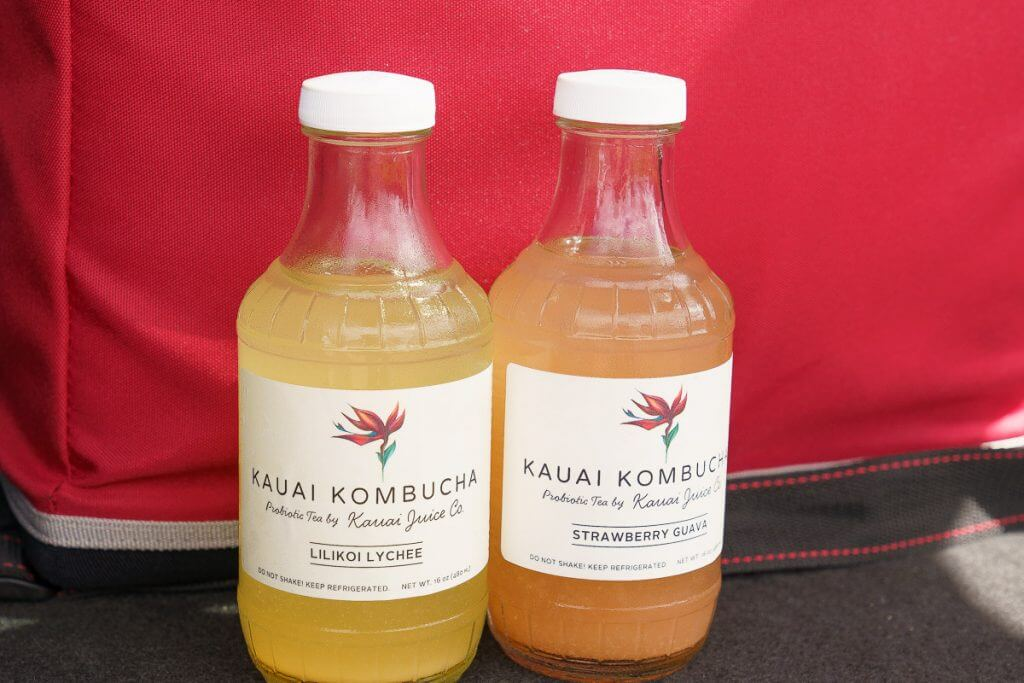 Kauai Juice Co is a local company that makes fresh batch kombucha with tropical flavors and it's part of the Tasting Kauai food tour.