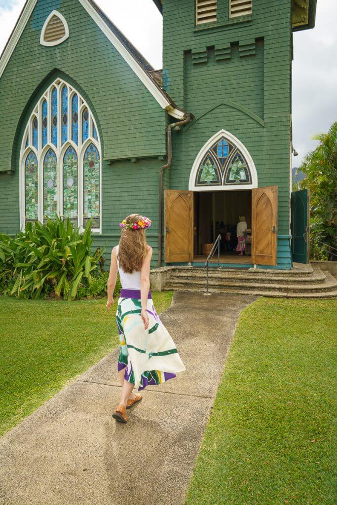 If you are heading up North, this church is one of the most popular Kauai photography spots in Hanalei.