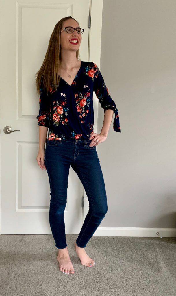 Stitch Fix unboxing: Kiera Keyhole Back Blouse from Papermoon.