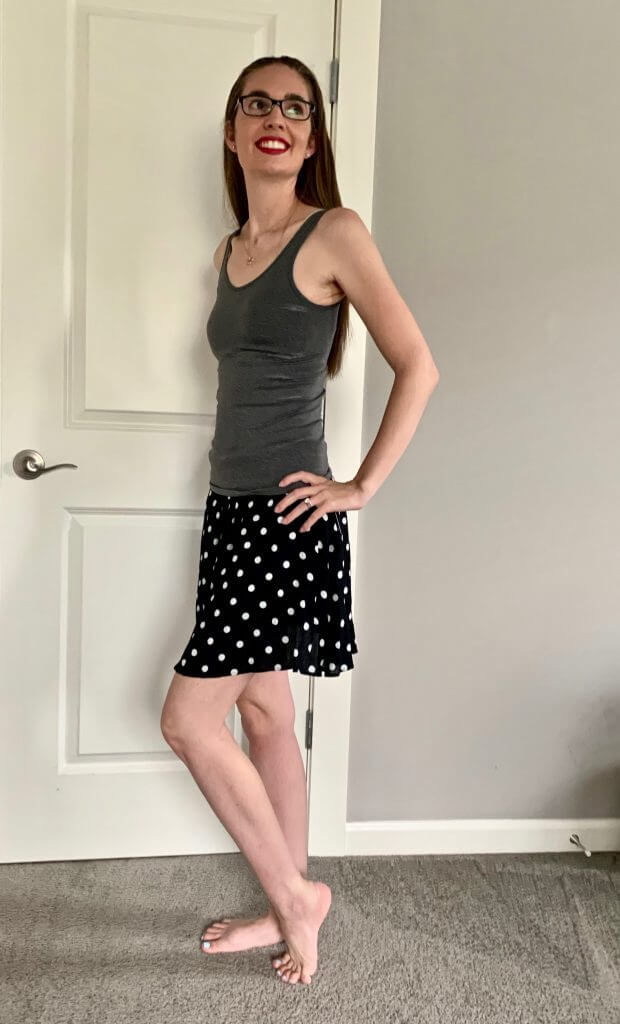 Stitch Fix unboxing: Alana Skirt from French Grey.
