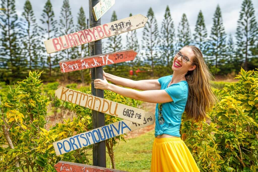 Kauai Coffee Company has lots of fun photo ops throughout their plantation.
