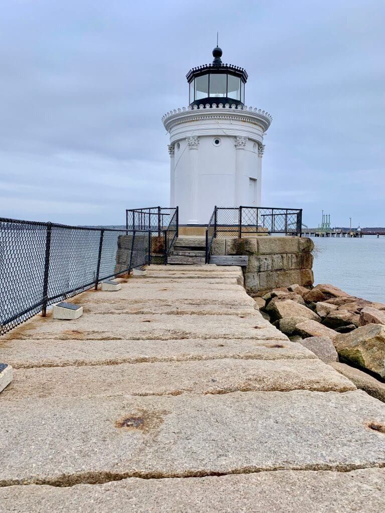 Bug Light is one of the smallest lighthouses in Portland, Maine.