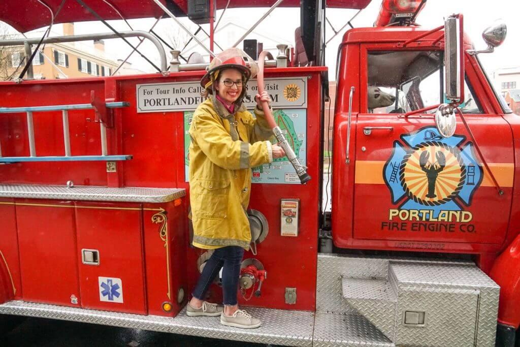 For a unique Maine tour, hop on a vintage fire truck for a tour of Portland, Maine