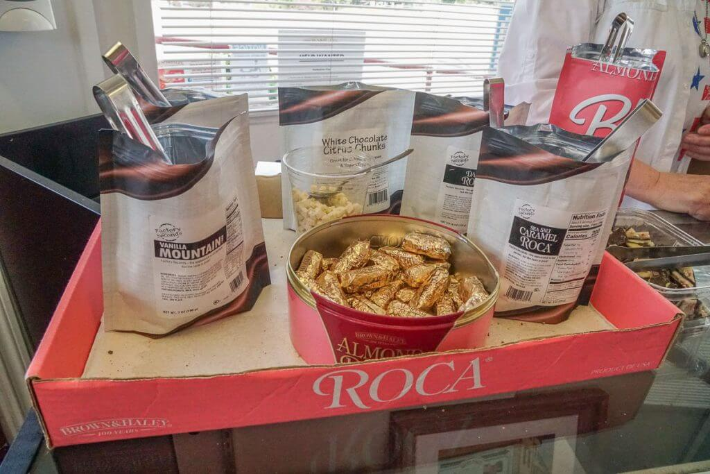 Kids will love stopping by Almond Roca to taste their different candy selection as part of the Pretty Gritty Sweets Tour in Tacoma, Washington